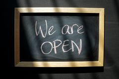 Free We Are Open For Business Royalty Free Stock Photo - 139128985