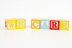 We Care Stock Image