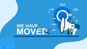 Free We Have Moved With Tiny People Character Concept Vector Illustration Royalty Free Stock Image - 168797236