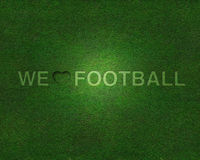 Free We Love Football On Grass Royalty Free Stock Image - 18536316