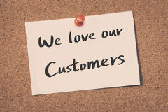 Free We Love Our Customers Stock Photo - 77224440