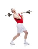 Weak body builder Stock Photos