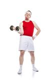Weak body builder Royalty Free Stock Images