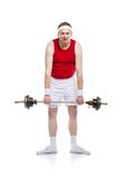 Weak body builder Royalty Free Stock Photography
