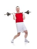 Weak body builder Stock Photo