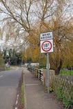 Weak bridge over river sign Stock Image