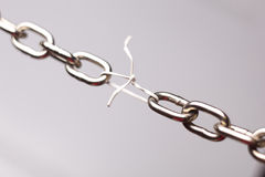 Weak link in chain Royalty Free Stock Photos
