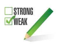 Weak over strong selection illustration Stock Images