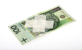 Weak Polish Zloty Stock Image