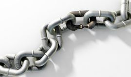 Weak Rusted Link Royalty Free Stock Photography