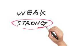 Weak or strong Stock Image