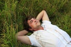 Weakening in a grass Royalty Free Stock Photos
