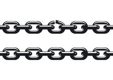 Weakest link of a chain stock illustration