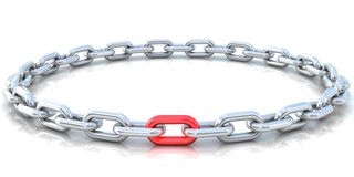 The weakest or strongest link. In a chain concept Stock Photos