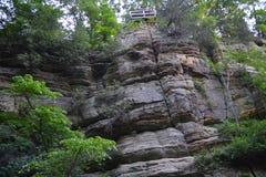 Weall da rocha Foto de Stock