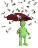 Wealth. Symbol of wealth and success -  rain from dollars Royalty Free Stock Image