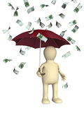 Wealth. Symbol of wealth and success - rain from euros Stock Images