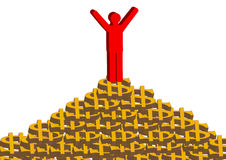 Wealth. The money heap became mountain, symbol success Stock Image
