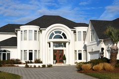 Wealth. Large new home for sale Royalty Free Stock Images