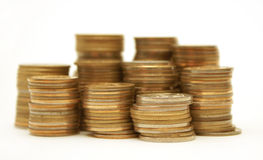 Wealth. Symbol of wealth - many gold coins Royalty Free Stock Image