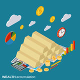 Wealth accumulation, business success, investment vector concept Royalty Free Stock Images