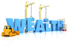 Wealth building. Under construction or repair isolated on a white background Royalty Free Stock Image