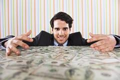 Wealth businessman Stock Image