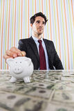 Wealth businessman Royalty Free Stock Photography