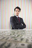 Wealth businessman Royalty Free Stock Photo