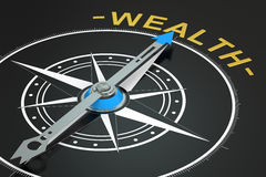 Wealth compass concept. 3D rendering Stock Images