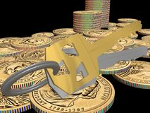 Wealth concept. Illustration of the wealth concept Royalty Free Stock Photo
