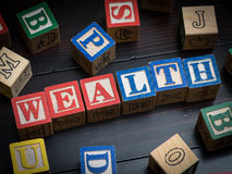 Wealth concept. Wealth education or learning concept Royalty Free Stock Images