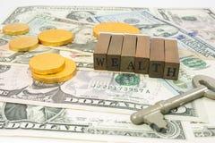 Wealth concept stock photo