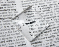 Wealth. Dictionary definition of word wealth Royalty Free Stock Image