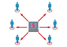 Wealth Distribution to Staff Illustration Royalty Free Stock Images
