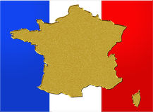 Wealth france flag Royalty Free Stock Photo