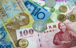 A Wealth of Funds. Money from around the world Royalty Free Stock Photography
