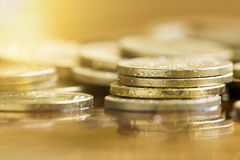 Wealth - golden money coins Royalty Free Stock Image