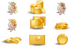Wealth Icons Stock Image