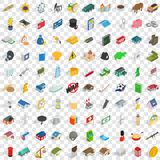 100 wealth icons set, isometric 3d style. 100 wealth icons set in isometric 3d style for any design vector illustration Vector Illustration