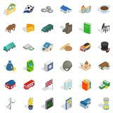 Wealth icons set, isometric style Stock Photo