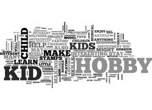 A Wealth Of Kid Hobby Ideas Word Cloud. A WEALTH OF KID HOBBY IDEAS TEXT WORD CLOUD CONCEPT Stock Images