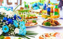 Wealth layout table on event party. Wealth layout table on the party event Royalty Free Stock Photos