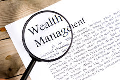 Wealth management business concept Stock Photography
