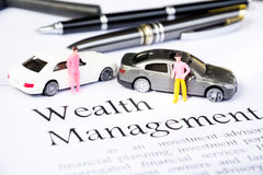 Wealth management business concept Stock Photos