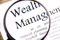 Wealth management business concept Royalty Free Stock Photography