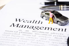 Wealth management business concept Stock Images
