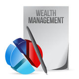 Wealth management business illustration design Royalty Free Stock Photos