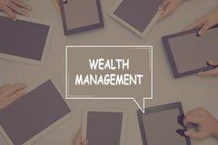WEALTH MANAGEMENT CONCEPT Business Concept. Business text Concept Stock Photography