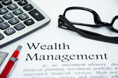 Wealth management text of business concept Royalty Free Stock Image
